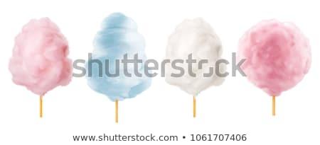 Pamut cukorka bot bolyhos cukor felhő Stock fotó © robuart