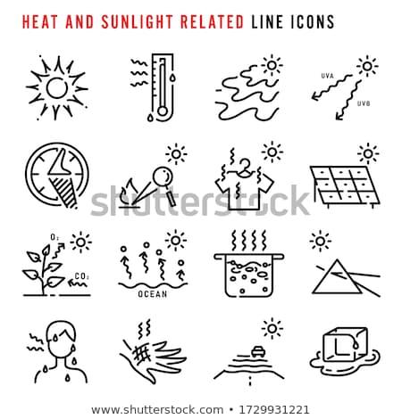 Yaz ısı ikon renk merdiven dizayn Stok fotoğraf © angelp