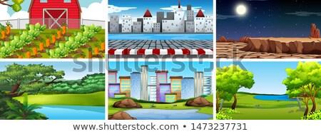 cidade · armas · formato · eps · 10 · casa - foto stock © bluering
