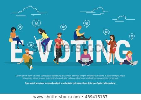 Elektronikus szavazás online választások szavazó készít Stock fotó © RAStudio