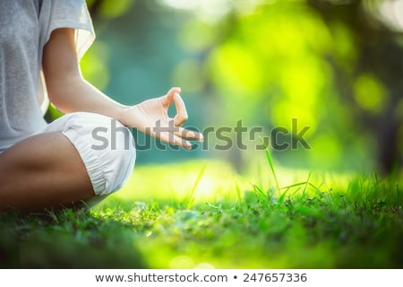 Yoga in the park, health woman, Yoga woman. Concept of healthy l Stock photo © Freedomz