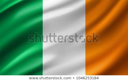İrlanda bayrak beyaz baskı şerit bant Stok fotoğraf © butenkow