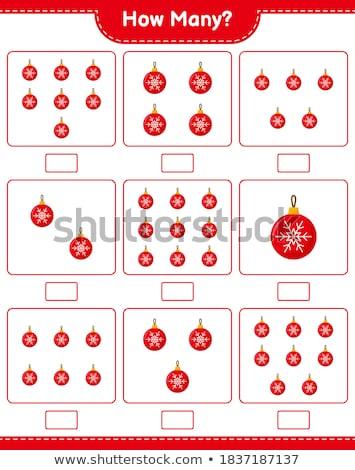 how many Christmas cartoon characters counting game Stock photo © izakowski