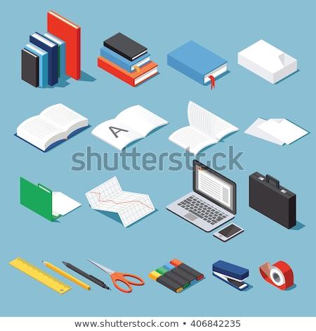 Iroda szett irodaszer olló notebook iskola Stock fotó © robuart
