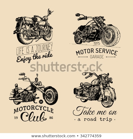 Hand drawn sketch racer icon Stock photo © netkov1