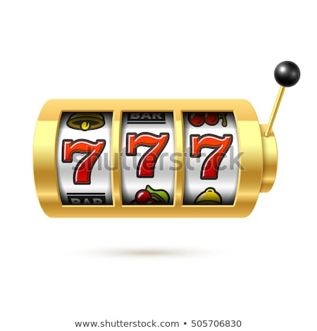 Slot Machine with Lucky 777 Triple Sevens Sign Stock photo © robuart