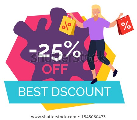 Legjobb árengedmény 25 százalék el ár Stock fotó © robuart