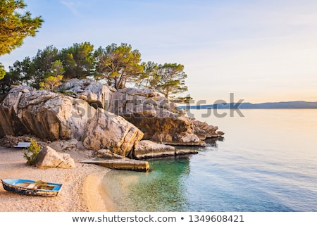 Seaside beach, Brela, Croatia Stock photo © borisb17