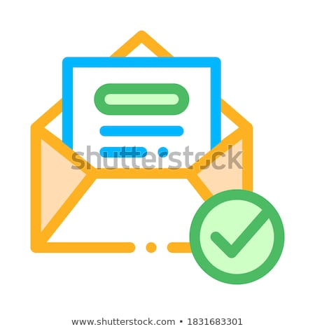 Envelope Message List And Approved Mark Vector Stock photo © pikepicture
