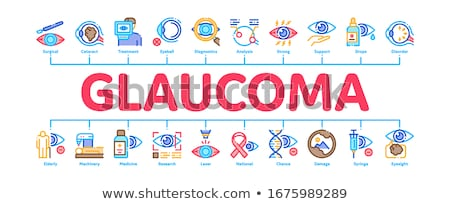 Glaucoma Ophthalmology Minimal Infographic Banner Vector Stock photo © pikepicture