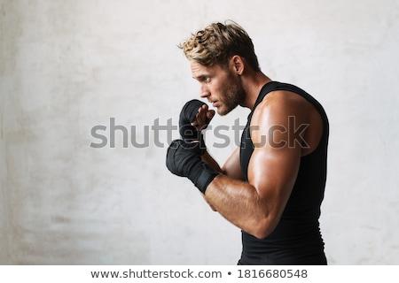 фото спортивный сильный спортсмен осуществлять Сток-фото © deandrobot