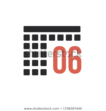 Month 6 June Calendar organizer icon. Stock Vector illustration isolated on white background. Stock photo © kyryloff