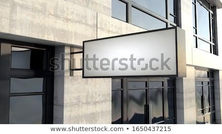 прямоугольный знак за пределами магазин фасад общий Сток-фото © albund