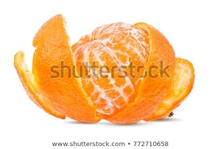Descascado mandarim laranjas isolado branco conjunto Foto stock © Bozena_Fulawka