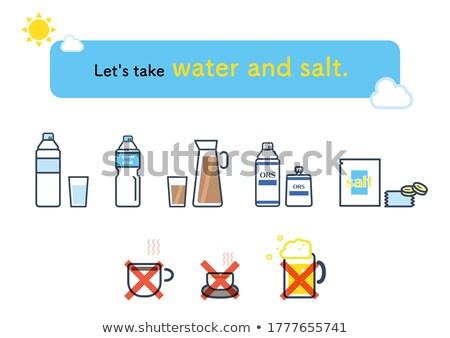 Vektor szett orális só üveg felirat Stock fotó © olllikeballoon