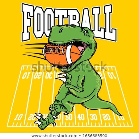Football dinosaur Stock photo © bennerdesign