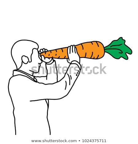 Beneficios zanahorias ojos ilustración mujer medicina Foto stock © adrenalina