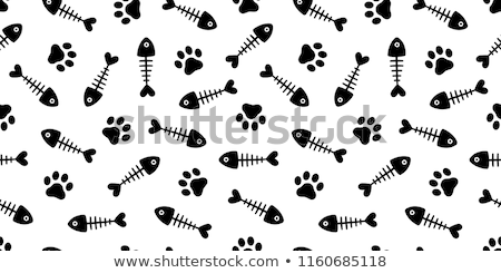 cat with fish bones Stock photo © get4net