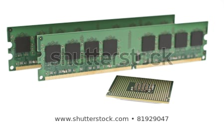 two ddr2 memory modules and a cpu stock photo © gewoldi