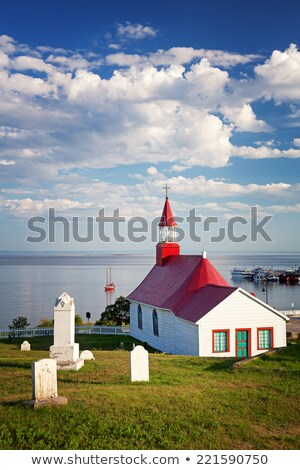 Old church and cemetery of Tadoussac Stock photo © aladin66