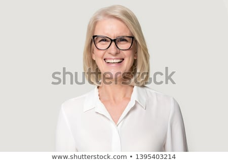 laughing senior business woman on white stock photo © dnsphotography