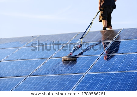 Cleaning of solar panels stock photo © visdia
