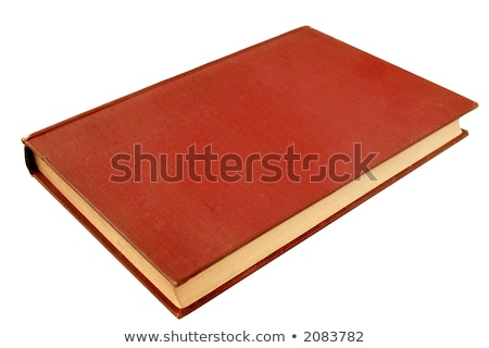 An old red book, published in 1908, with a blank cover. Stock photo © latent