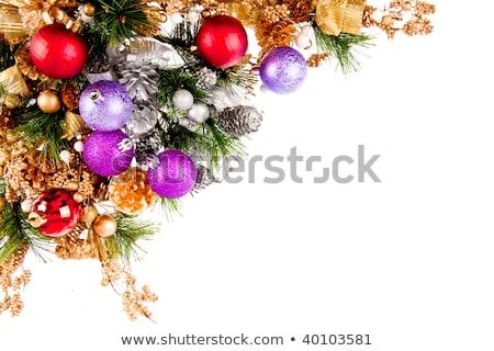 Stock photo: Christmas Ornament Coner Decoration Series