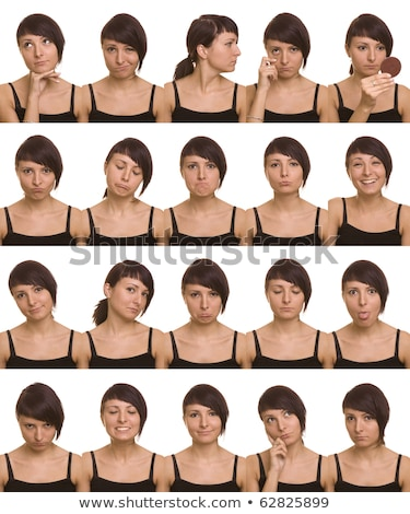 útil · expressões · faciais · ator · faces · mil · branco - foto stock © redpixel