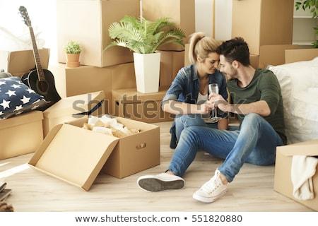 çift hareketli şampanya kadın ev Stok fotoğraf © photography33