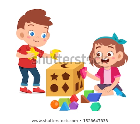 Young boy playing with a shape sorting toy Stock photo © photography33