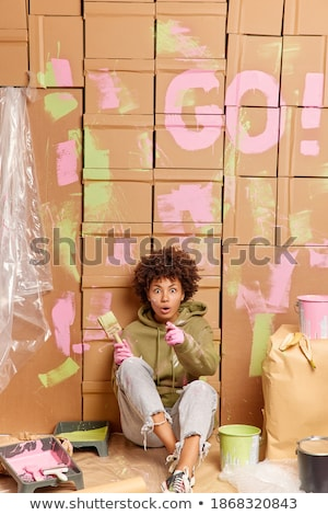 a painter pointing at the floor stock photo © photography33