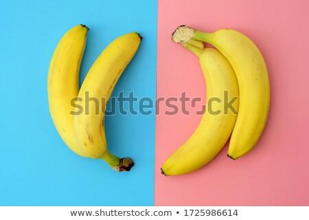 Dois amarelo banana isolado branco Foto stock © boroda