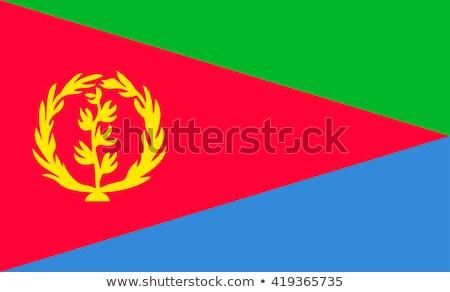 Eritrea · zászló · gomb · textúra · művészet · kék - stock fotó © zeffss