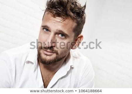 Di bell'aspetto uomo ritratto giovane nero tshirt Foto d'archivio © adamr