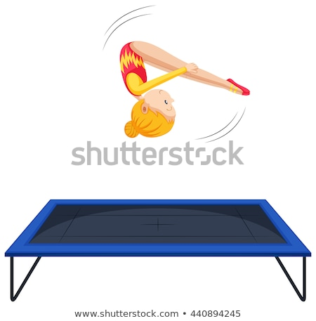 Athlete Trampoline Gymnast Stock photo © sahua