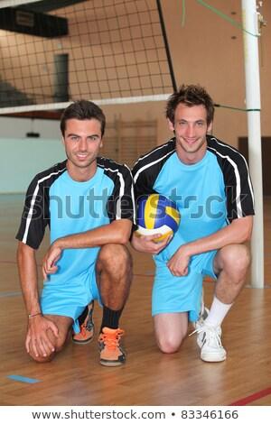 equipe · vôlei · bola · tribunal · esportes - foto stock © photography33