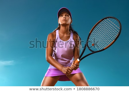 portrait of a teenager with racket Stock photo © photography33