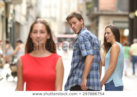 Man looking at his beautiful girlfriend Stock photo © photography33