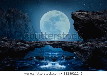 Doğal kaya köprü geniş açı atış orman Stok fotoğraf © macropixel