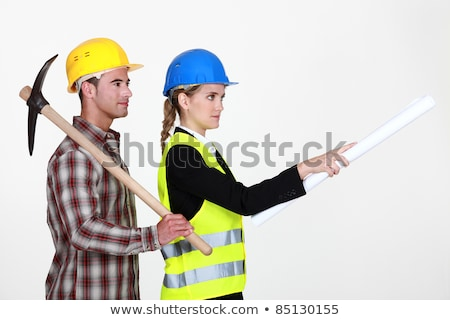 picture of young female architect with male bricklayer Stock photo © photography33