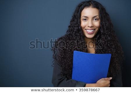 Iş başvuru sahibi kız Bina çalışmak defter Stok fotoğraf © photography33