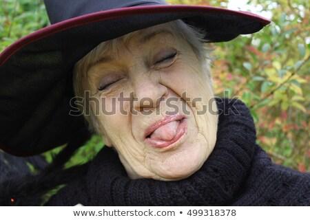 bella · strega · vettore · bella · ragazza · costume · occhi - foto d'archivio © vectomart