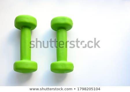 Two green dumbbells Stock photo © Hofmeester