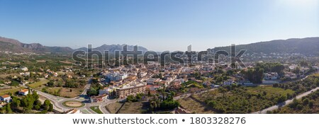 Beniarbeig view of Segaria mountain in Alicante Stock photo © lunamarina