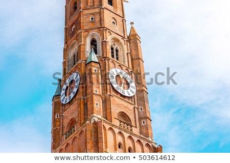 教会 ドイツ ビッグ 青空 クロック ストックフォト © Hartmut_Lerch