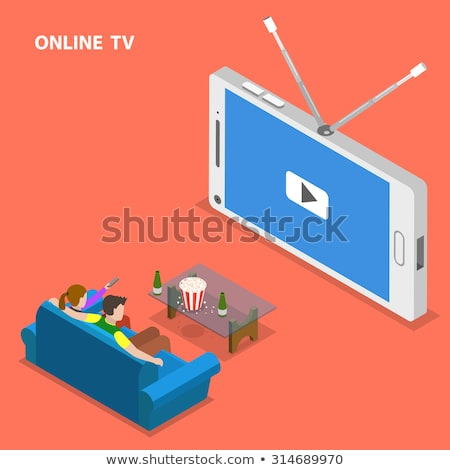 Woman with TV antenna Stock photo © photography33