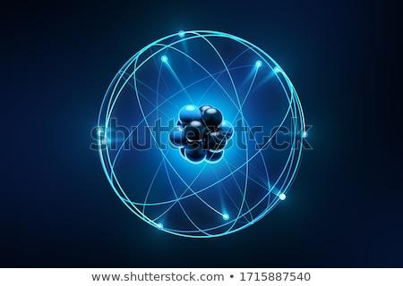 атом электрон аннотация образование белый химии Сток-фото © dagadu