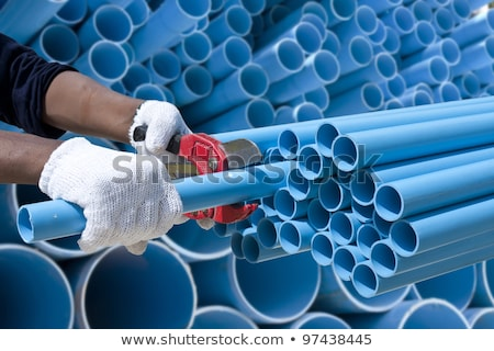 plumber cutting plastic pipe stock photo © photography33