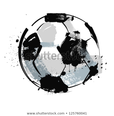 Stock photo: Grunge Soccer Ball